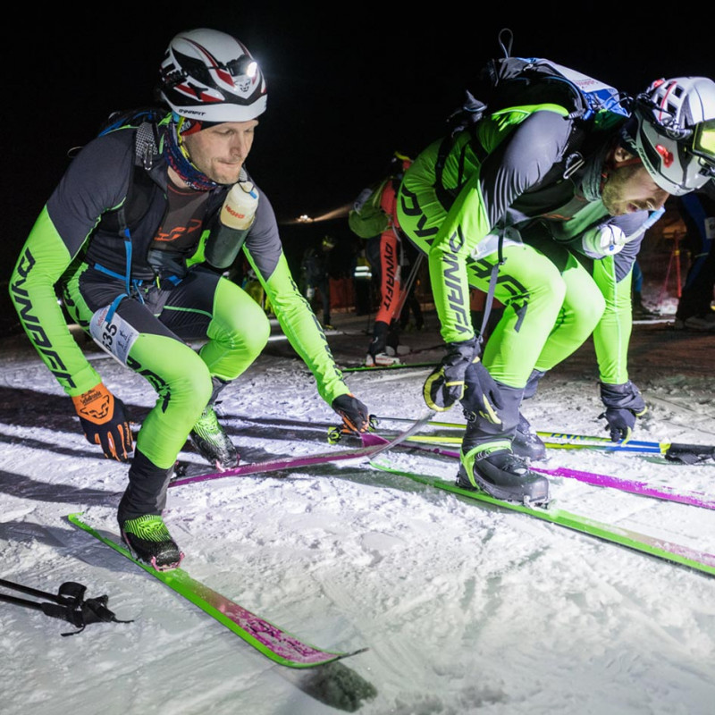 Dynafit athletes during skimountaineering race