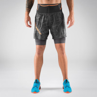 Preview: Glockner Ultra 2in1 Shorts Herren - kurze Laufhose mit Innenhose