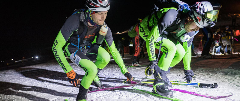 Dynafit skitouring Ahtletes preparing for PDG at the Sellaronda Skimarathon